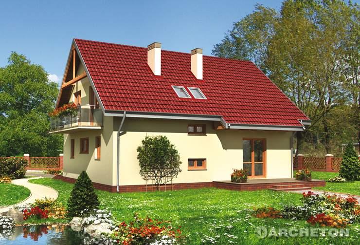 Projekt domu Oberek - funkcjonalny dom z 4 sypialniami na poddaszu