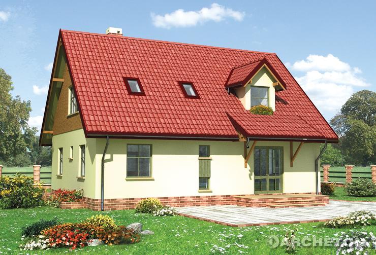 Projekt domu Olcha - dom z kotłownią i 3 pom. gospodarczymi w piwnicy