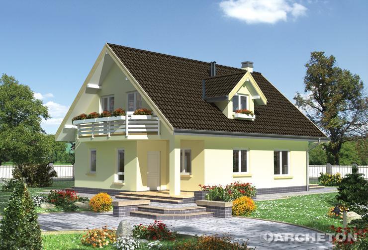 Projekt domu Olga - dom z ponad 35 metrowym pokojem dziennym połączonym z jadalnią