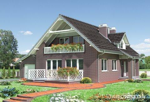 Одноэтажный дом, с эксплуатационным чердаком, с частично выстроенным подвалом, с гаражом