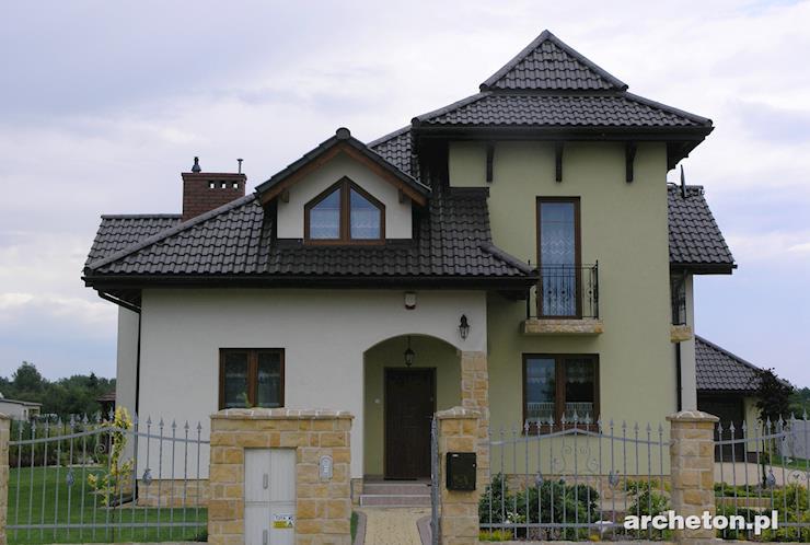 Projekt domu Orle Gniazdo - nietuzinkowy dom z charakterystyczną wieżą