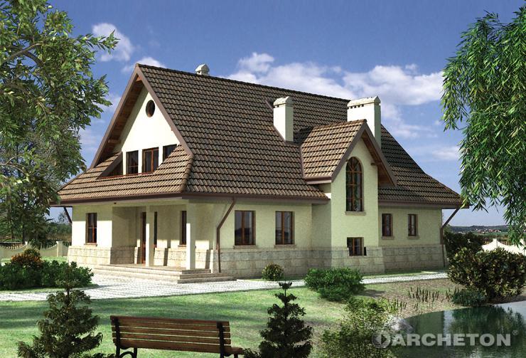 Projekt domu Orlik - dom nawiązujący do tradycyjnej architektury dworkowej