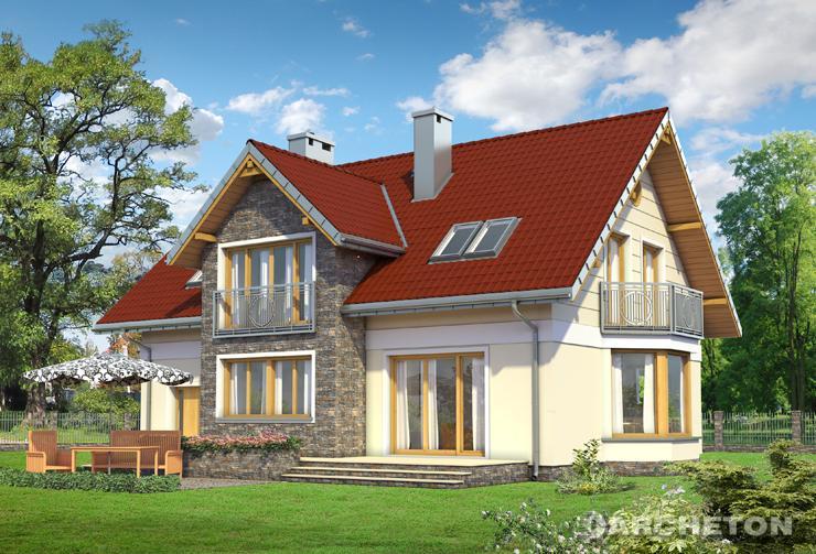 Projekt domu Pablo Neo - dom z dużym przeszkleniem od strony ogrodu