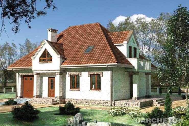 Projekt domu Pankracy-2 - dom z pom. gospodarczym pod klatką schodową