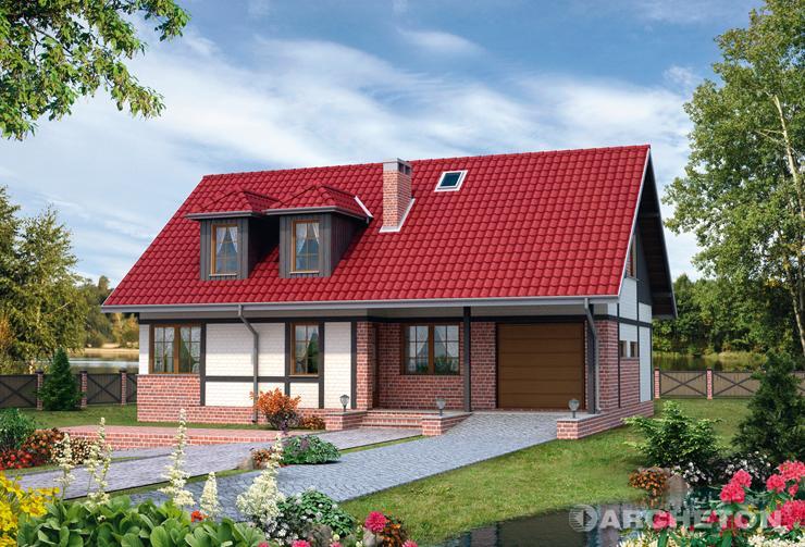 Projekt domu Perkoz - dom z elewacją imitującą mur pruski