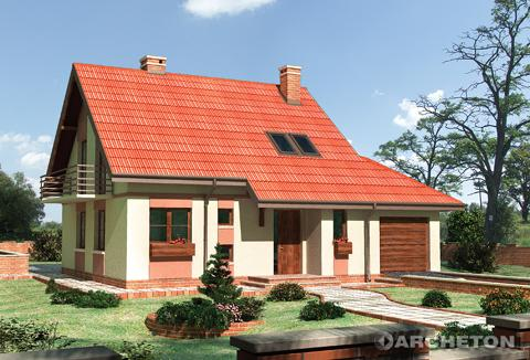 Projekt domu Poziomka