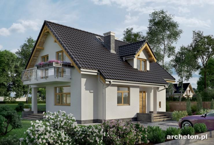 Projekt domu Prymulka - przytulny dom z jadalnią połączoną z pokojem dziennym