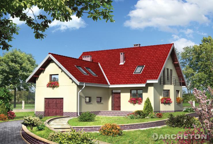 Projekt domu Rafał - dom z jasnym, jednoprzestrzennym wnętrzem w części dziennej