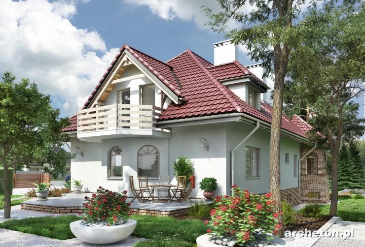 Projekt domu Rajsko - dom z pomieszczeniem hobby oraz garażem w piwnicy