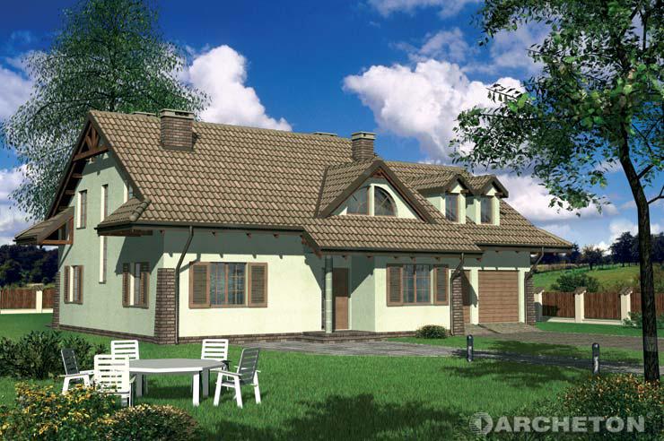Projekt domu Razem - dom z dwiema jednoosobowymi sypialniami na poddaszu
