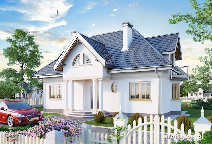 Projekt domu Rezeda - dom częściowo podpiwniczony, z 2 pomieszczeniami gospodarczymi