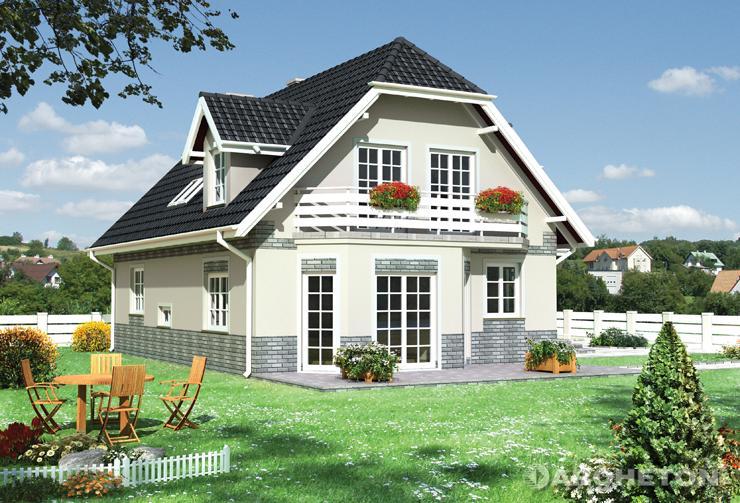 Projekt domu Rozalia - dom z 4 obszernymi sypialniami na poddaszu