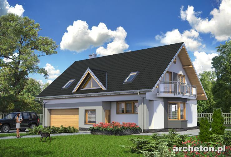 Projekt domu Saba - przestronny dom z funkcjonalnym wnętrzem i garażem na dwa samochody