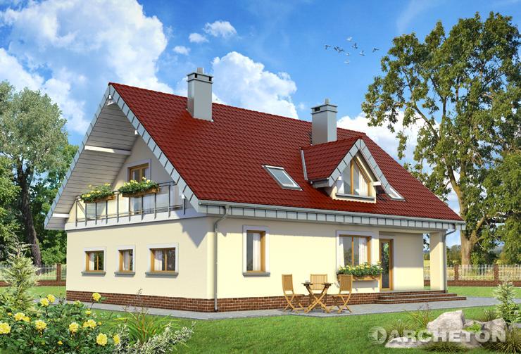 Projekt domu Saba - dom z 4 sypialniami, holem oraz łazienką na poddaszu