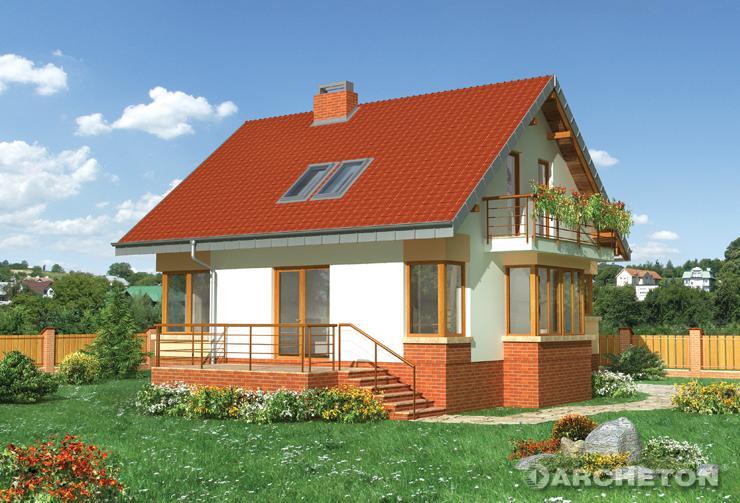 Projekt domu Sabina - dom z pokojem kominkowym na parterze