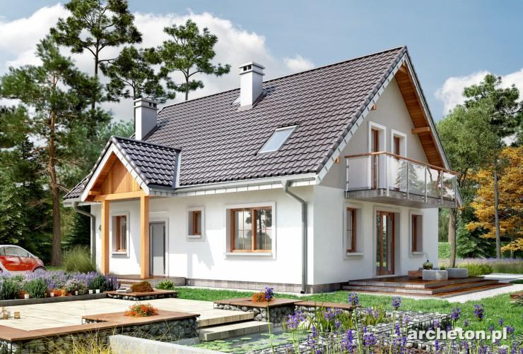 Projekt domu Sambor - niewielki dom z łazienką na parterze i poddaszu