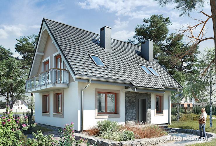 Projekt domu Sambor Bobo - malutki i funkcjonalny domek, z dwoma łazienkami i wydzieloną pralnią