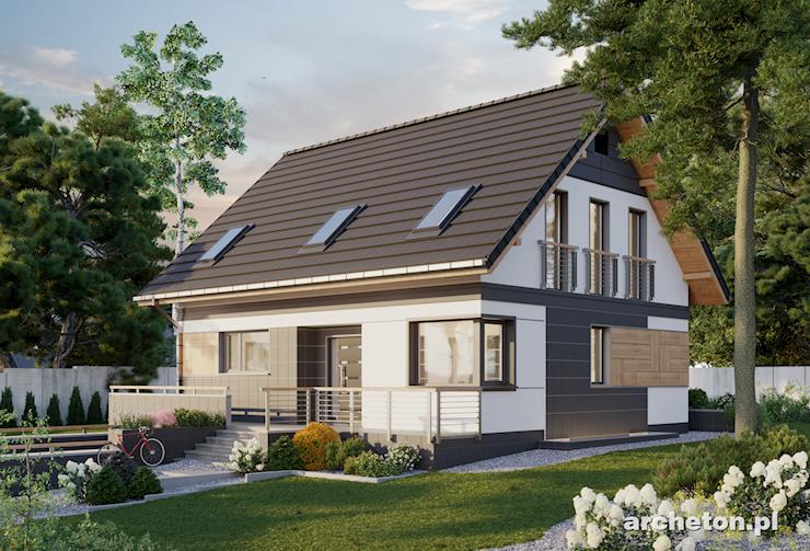 Projekt domu Sandra - podpiwniczony dom, z funkcjonalnym wnętrzem, idealny dla 4 i 5 osobowej rodziny