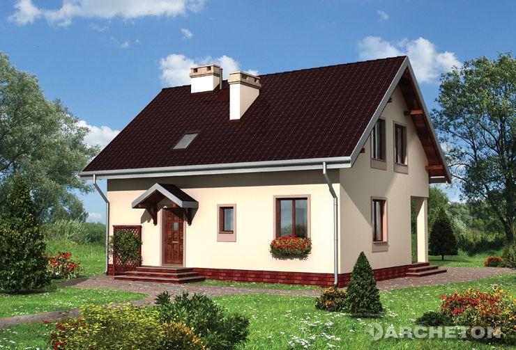 Projekt domu Ścibor - dom z pom. gospodarczym pełniącym rolę pralni/kotłowni