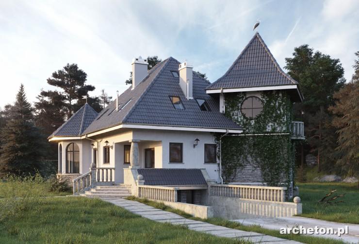 Projekt domu Sielawa - dom z pomieszczeniem hobby i garażem w piwnicy