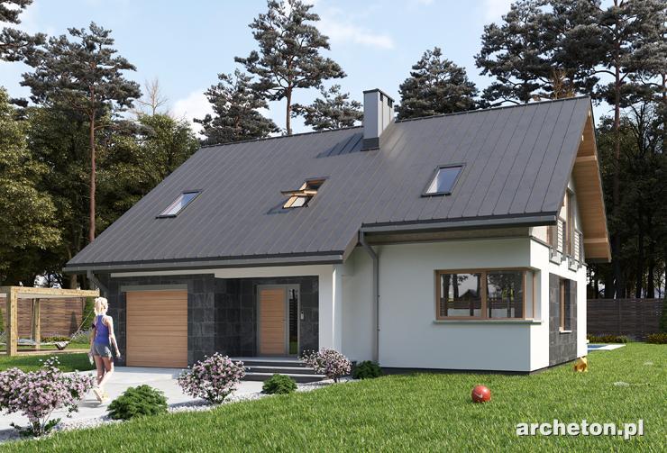 Projekt domu Skarbek As - funkcjonalny i nowoczesny dom z użytkowym poddaszem o powierzchni do 120 m2