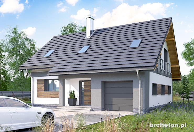 Projekt domu Skarbek Neo - funkcjonalny dom ze spiżarką w kuchni i dużą kotłownią