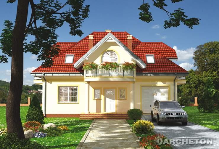 Projekt domu Ślężan Alter - przytulny dom z przestronnym pokojem dziennym
