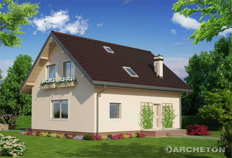 Projekt domu Smolik Eko - dom energooszczędny z dodatkowym pokojem na parterze