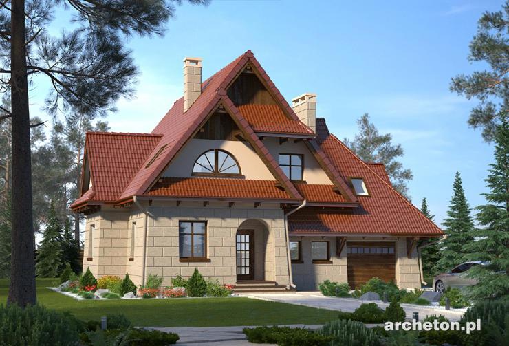 Projekt domu Smrek - dom nawiązujący do architektury podhalańskiej