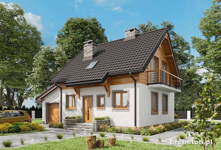 Projekt domu Smyk - przytulny domek z osobnym wejściem do garażu