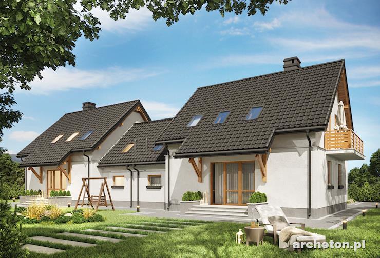 Projekt domu Smyk-2 Duo - niewielki domek do zabudowy bliźniaczej