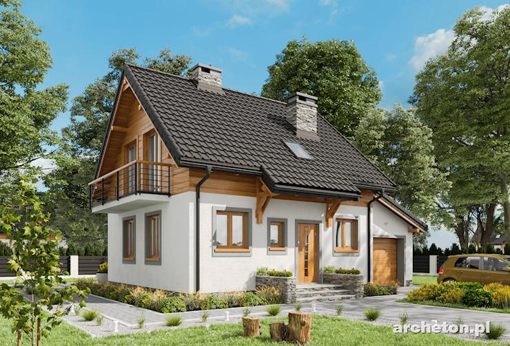 Projekt domu Smyk - niewielki i przytulny dom o ścianach z betonu komórkowego