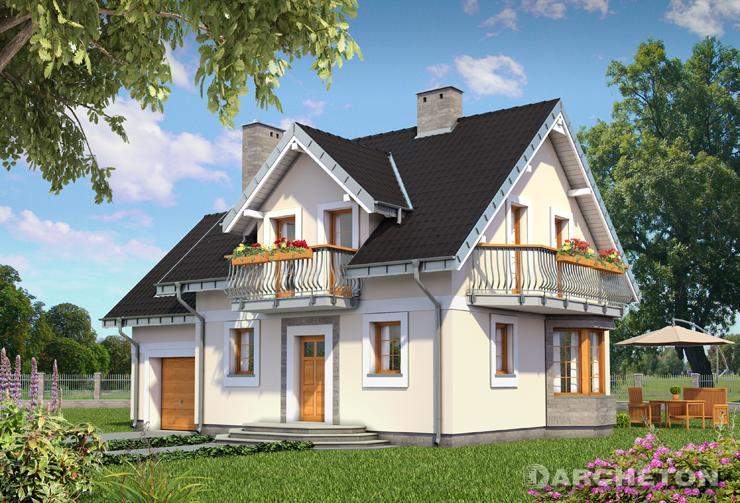 Projekt domu Smyk Alfa - niewielki dom z tarasem od strony ogrodu