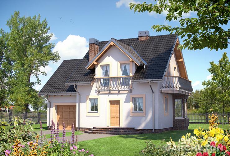 Projekt domu Smyk Prima - niewielki domek z garażem i 3 sypialniami