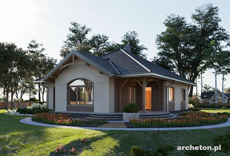 Projekt domu Sonatina - dom parterowy, z funkcjonalnym rozkładem pomieszczeń, do 120 m2