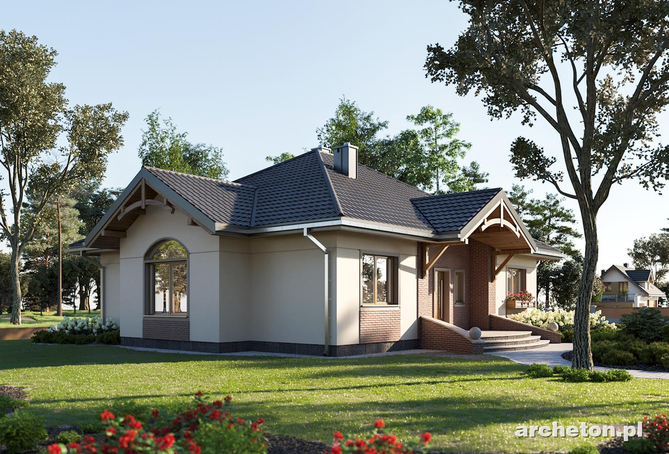 Projekt Domu Sonatina Rozłożysty Dom Parterowy Bez Poddasza Beton