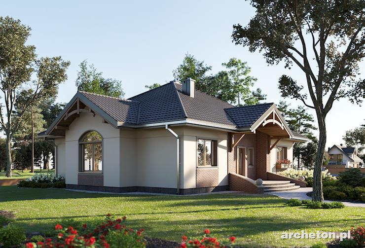 Projekt domu Sonatina - rozłożysty dom parterowy bez poddasza