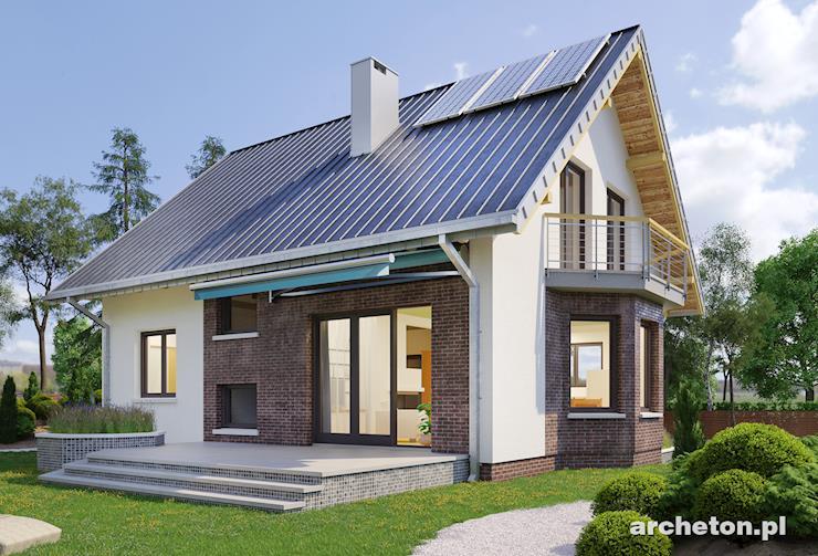 Projekt domu Sonia - niewielki dom z użytkowym poddaszem, całkowicie podpiwniczony