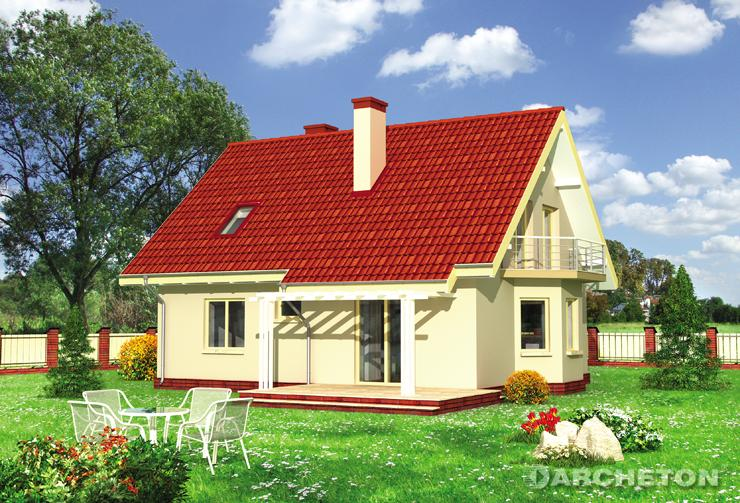 Projekt domu Sonia - mały dom z gabinetem na parterze