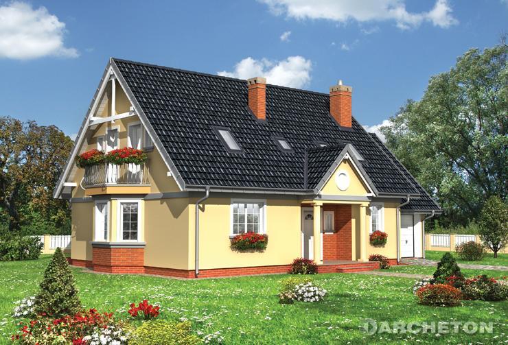 Projekt domu Sonia Lux - średniej wielkości dom ze strychem nad garażem