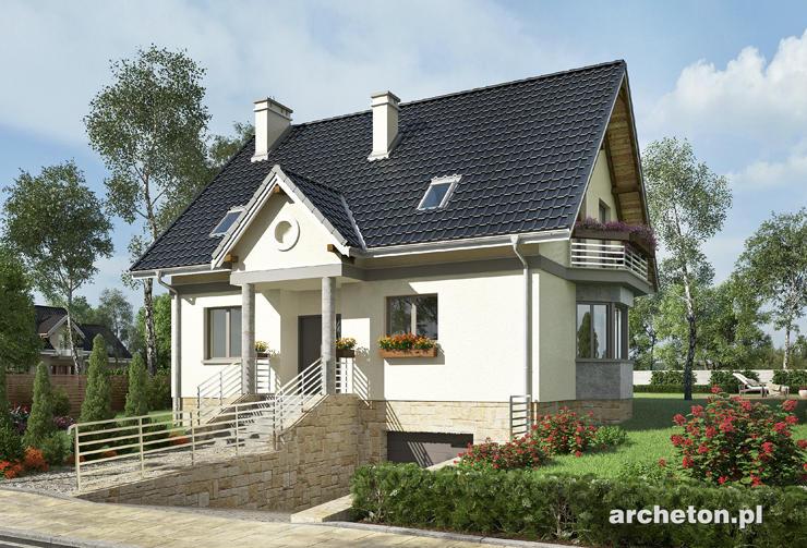 Projekt domu Sonia Midi - niewielki dom z otwartym pokojem dziennym