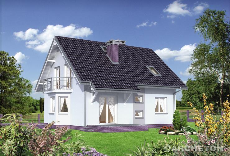 Projekt domu Sonia Mini - dom całkowicie podpiwniczony, z wysuniętą jadalnią