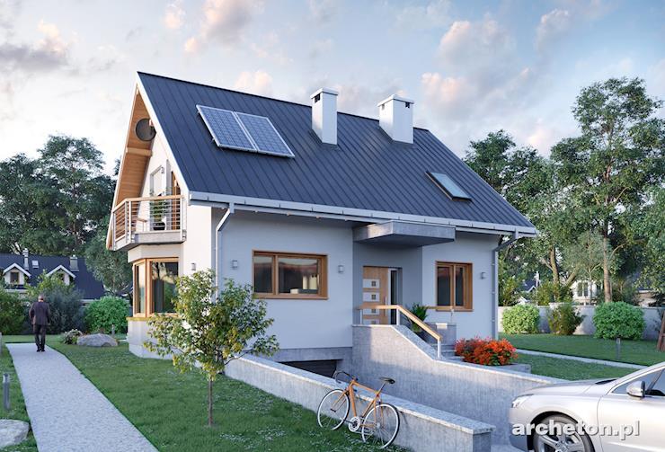 Projekt domu Sonia Mini - funkcjonalny dom, idealny dla 5 osobowej rodziny, z garażem w piwnicy