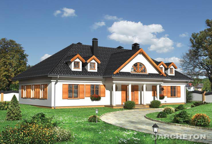 Projekt domu Soplica - duży i przestrzenny dom w stylu dworkowym