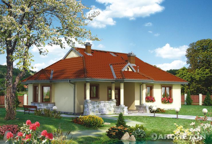 Projekt domu Spytko - dom parterowy przystosowany dla osób niepełnosprawnych