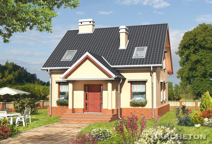 Projekt domu Staś - niewielki dom z otwartą przestrzenią na parterze