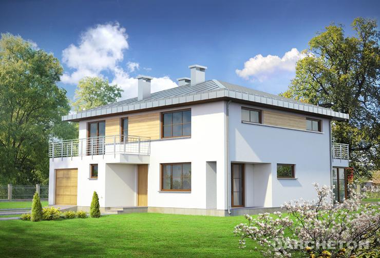 Projekt domu Suita - nowoczesny dom z pokojem rekreacyjnym na piętrze