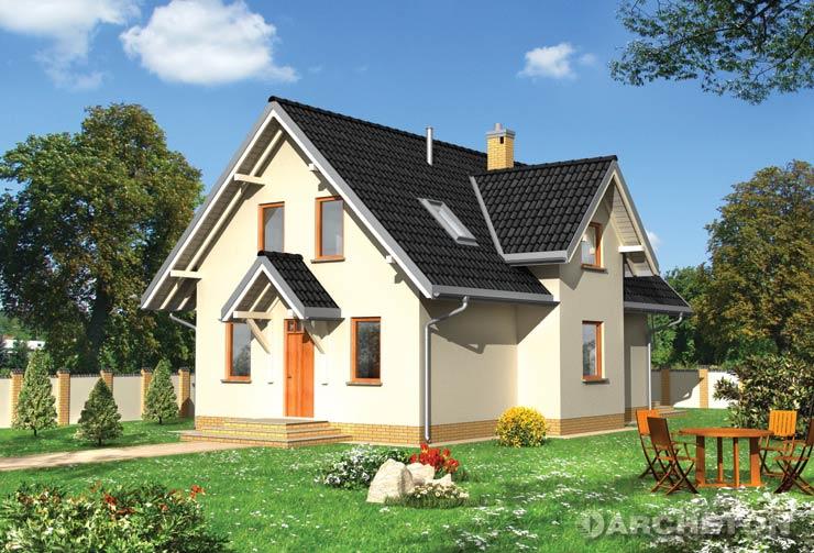 Projekt domu Supełek - przestronny dom z pralnią na parterze