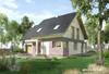 Projekt domu Świetlik - funkcjonalny dom o prostej i energooszczędnej bryle, z garażem