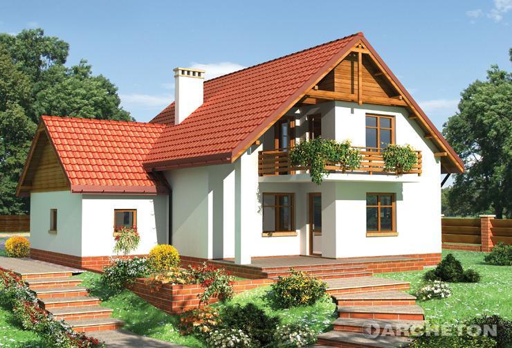 Projekt domu Świstak - dom z użytkowym poddaszem ze strychem nad garażem